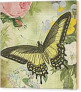 Butterfly Visions-d Wood Print