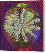 Butterfly Water Globe   Wood Print