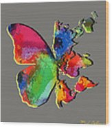 Butterfly World Map 2 Wood Print