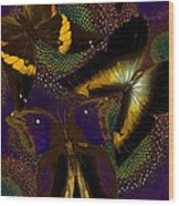 Butterfly Worlds Wood Print