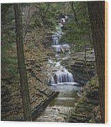 Buttermilk Falls In Autumn IIi Wood Print by Michele Steffey