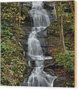 Buttermilk Falls In Autumn Wood Print by Stephen  Vecchiotti