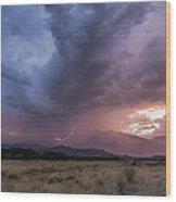 Buttermilks Lightning Strike Wood Print