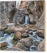 Buttermilks Waterfall Wood Print