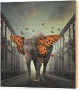 Butterphant Wood Print