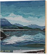 Buttle Lake Wood Print by David Skrypnyk