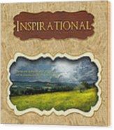 Button - Inspirational Wood Print