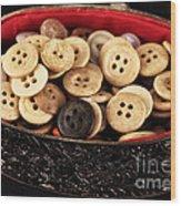 Button Treasures Wood Print