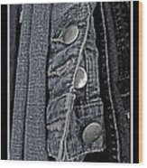 Button Ups Wood Print