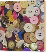 Buttons 671 Wood Print