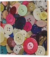 Buttons 680 Wood Print