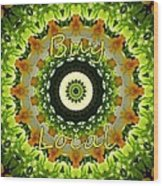 Buy Local Green 1 Wood Print