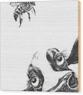 Buzzy Moo Wood Print