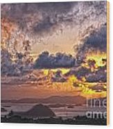 Bvi Sunset   Wood Print