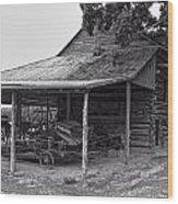 bw Antique Barn Wood Print