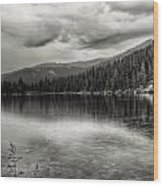 Bw Bear Lake Wood Print