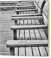 Bw Bench Wood Print