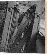 Bw Bridge Wood Print