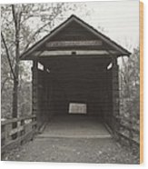 Bw Humpback Bridge Opening Wood Print