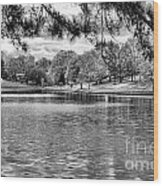 Bw Lake Views  Wood Print by Chuck Kuhn