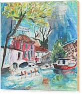 By A French Canal 01 Wood Print
