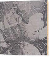 By A Thread Wood Print