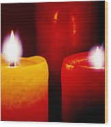 By Candlelight Wood Print