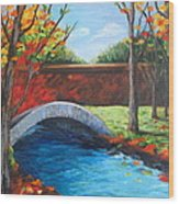By The Bridge Wood Print