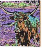 By The Horns Wood Print