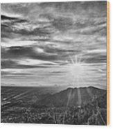 By The Light Of God Wood Print