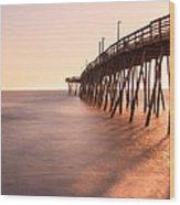 Avalon Fishing Pier Wood Print
