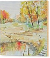 By The Pond Wood Print