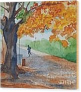 By The Rideau Canal Wood Print