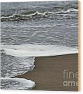By The Seashore Wood Print