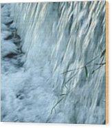 By The Weir Dam Wood Print