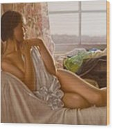 By The Window Wood Print by John Silver