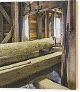 Bygone Sawmill Wood Print