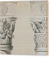 Byzantine Capitals From Columns In The Nave Of The Church Of St Demetrius In Thessalonica Wood Print