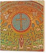 Byzantine Mosaic Wood Print