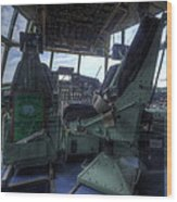 C-130 Cockpit Wood Print