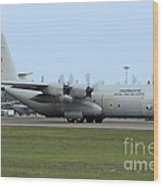 C-130j Super Hercules Of The Royal Thai Wood Print