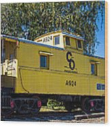 C And O Railroad Car Wood Print
