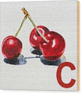C Art Alphabet For Kids Room Wood Print