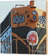 C N R Train 906 Rustic Wood Print