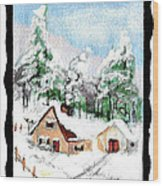 C4 Wood Print