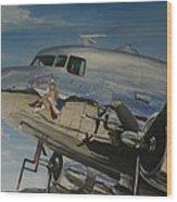 C47b Skytrain Bluebonnet Belle  Warbird 1944 Wood Print