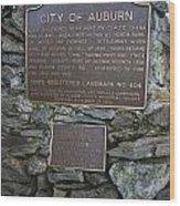 Ca-404 City Of Auburn Wood Print
