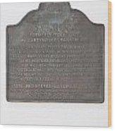 Ca-435 Saratoga Wood Print
