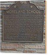 Ca-489 Moreland School Wood Print