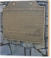 Ca-843 North Star Mine Powerhouse Wood Print